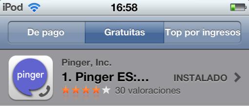 Pinger ES is the #1 FREE App in Spain! | Pinger's Blog